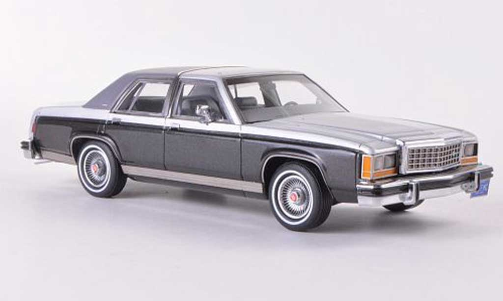 Ford LTD 1973 1/43 Matrix 1973 Crown Victoria grise/anthrazit/mattgrise miniature
