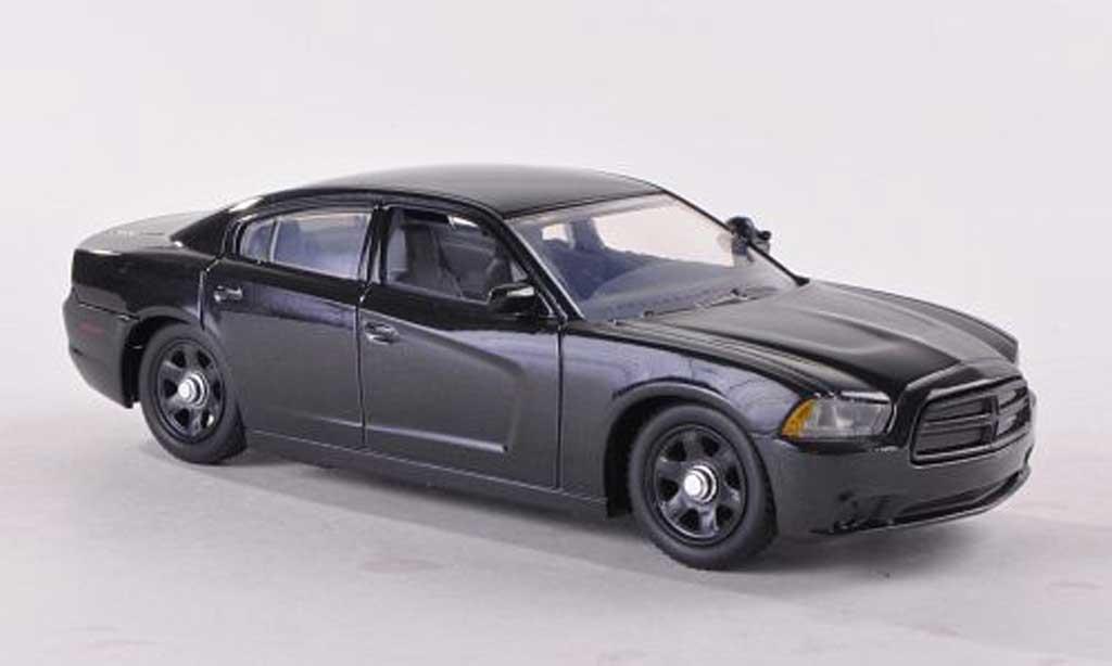 Dodge Charger Police 1/43 First Response schwarz undekoriertes Polizeifahrzeug 2012 modellautos