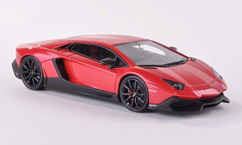 Lamborghini Aventador LP720-4 1/43 Look Smart red 50. Anniversary diecast model cars