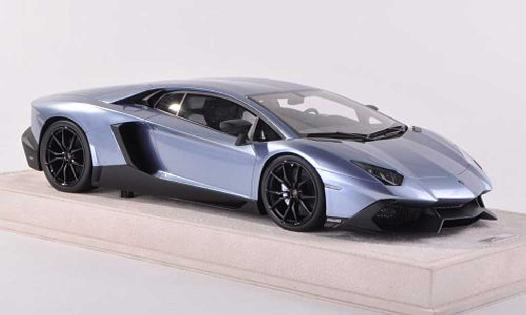Lamborghini Aventador LP700-4 1/43 MR Collection 50th Anniversaire bleu  miniature