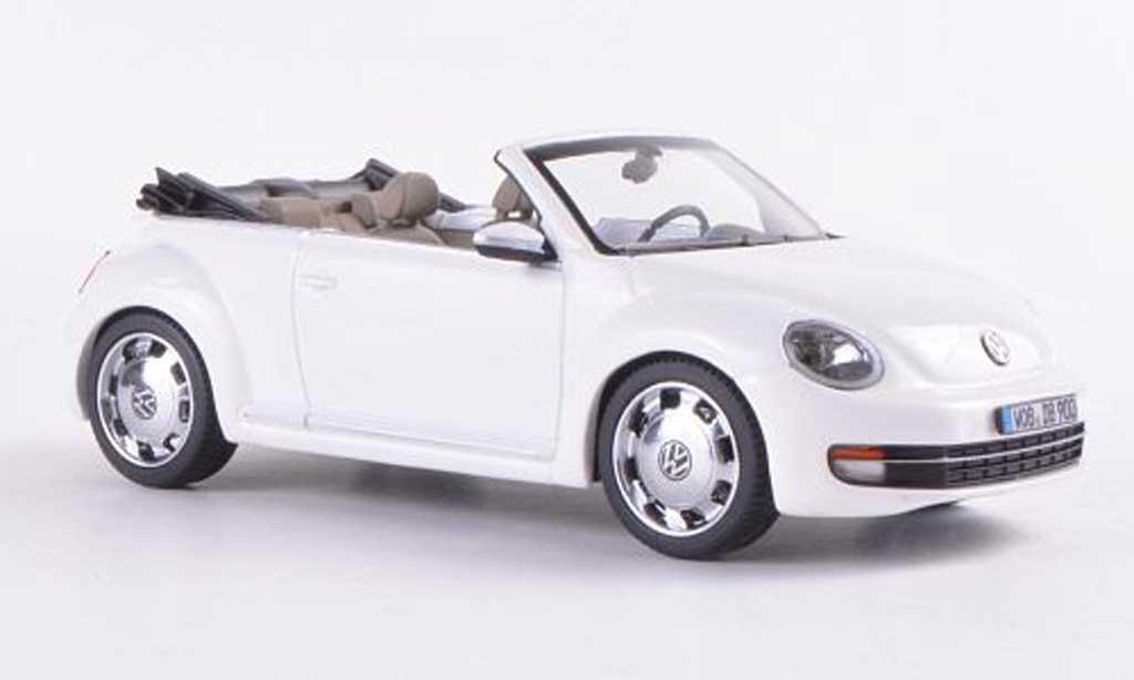 Volkswagen Beetle Cabriolet 1/43 Schuco blanche 2012 miniature