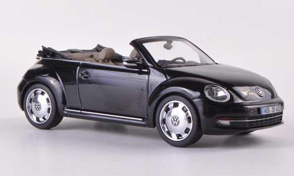 Volkswagen Beetle Cabriolet 1/43 Schuco black 2012 diecast model cars