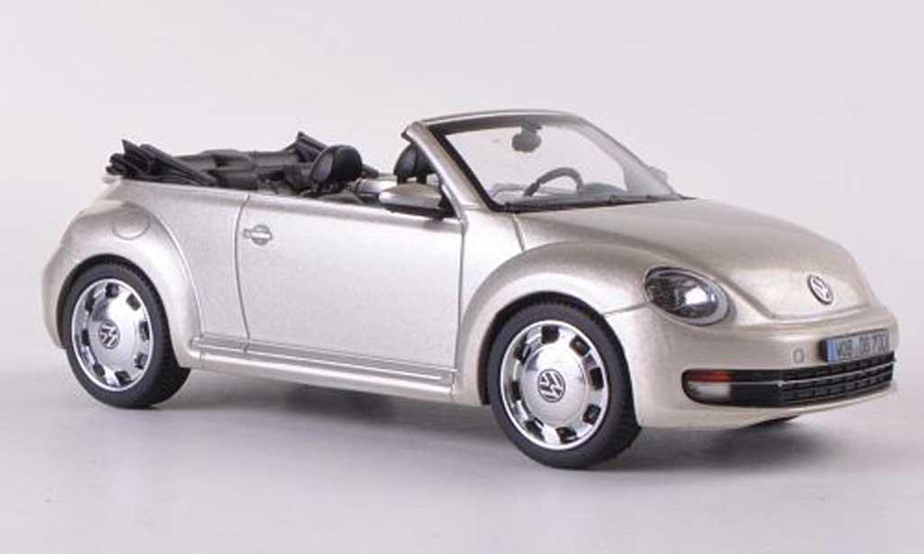 Volkswagen Beetle Cabriolet 1/43 Schuco beige 2012 miniature
