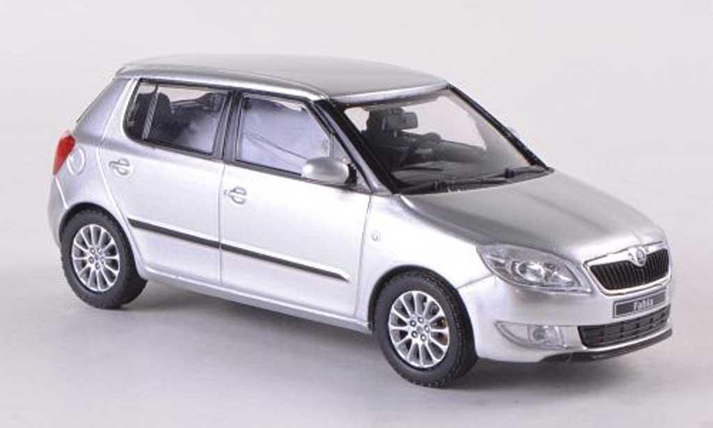 Skoda Fabia II 1/43 Abrex grise Facelift 2010 miniature