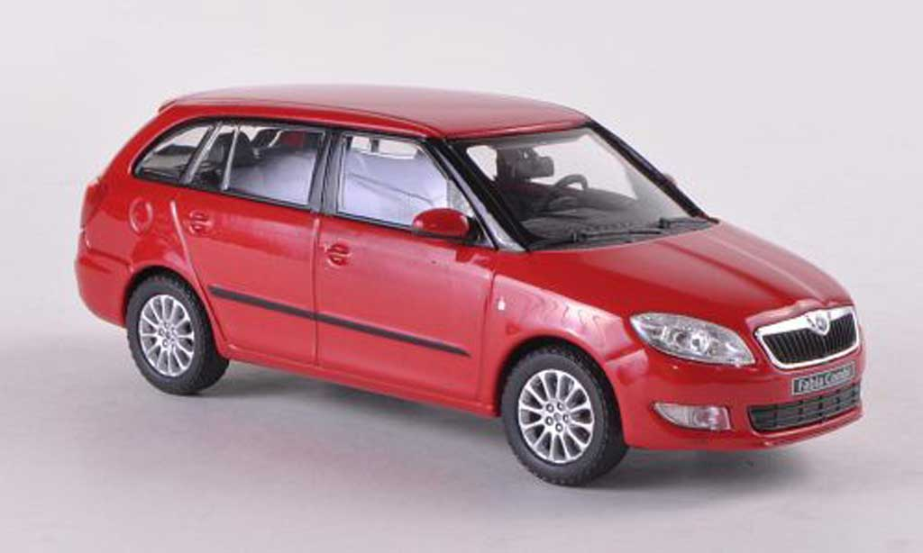skoda fabia ii miniature combi rouge facelift 2010 abrex 1 43 voiture. Black Bedroom Furniture Sets. Home Design Ideas