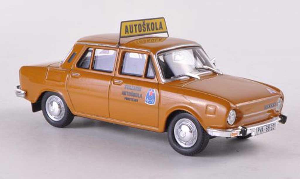 Skoda 110 1/43 Abrex L Autoskola Svazarm Prostejov marron miniature