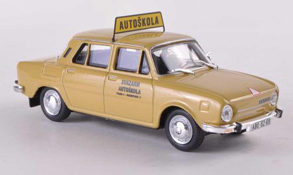 Skoda 110 1/43 Abrex L Autoskola Svazarm Praha 3 - Biskupcova 11 beige miniature