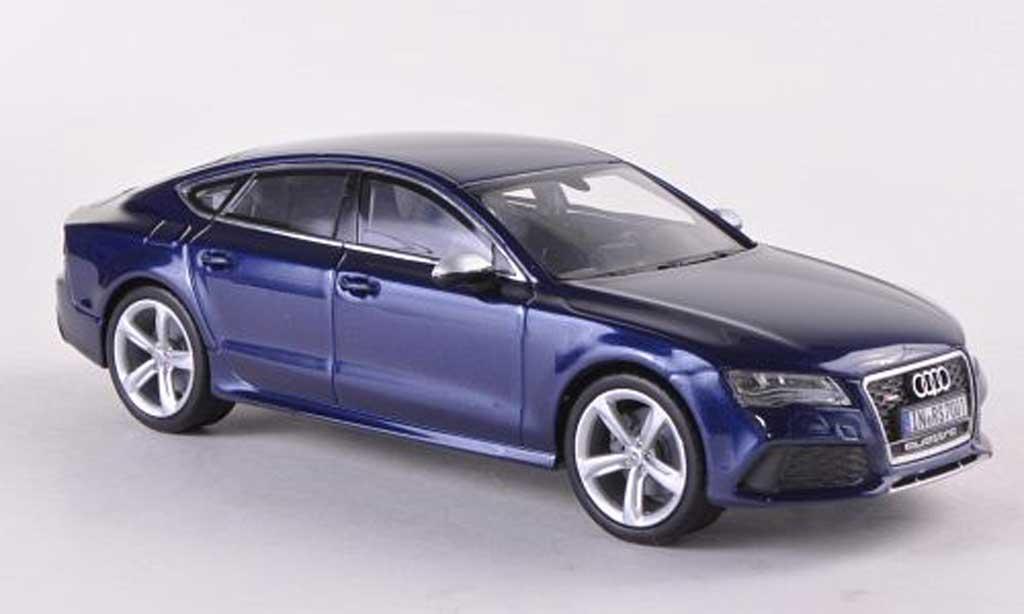 Audi RS7 1/43 Kyosho Sportback bleue 2013 miniature