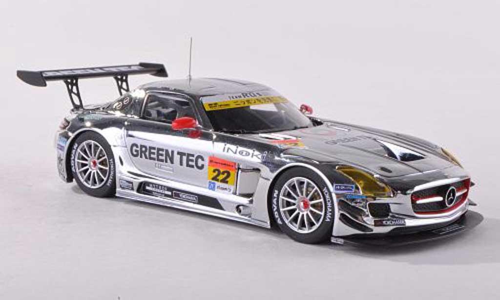 Mercedes SLS 1/43 Ebbro AMG GT3 No.22 Green Tec Super GT300 2013 Hisashi Wada/Masaki Jounai miniature