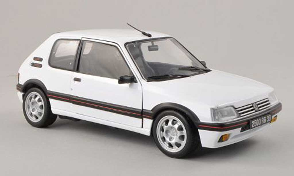 Peugeot 205 GTI 1/18 Norev white 1991 diecast model cars
