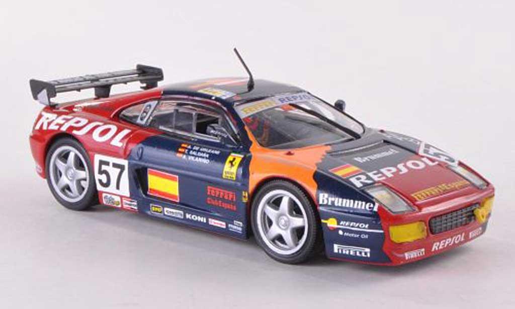 Ferrari 348 GT Competizione 1/43 Ferrari Racing Collection No.57 T.Saldana/A.Villarino/A.de Orleans-Borbon 24h Le Mans 1994 miniatura