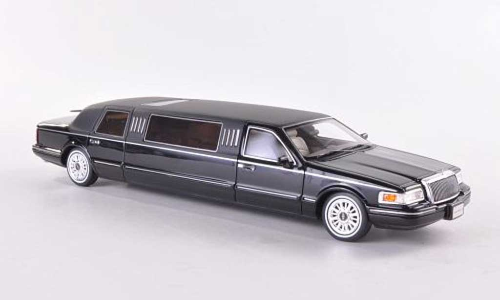 lincoln town car 1997 town car limousine schwarz mattschwarz 1997 glm modellauto 1 43 kaufen. Black Bedroom Furniture Sets. Home Design Ideas
