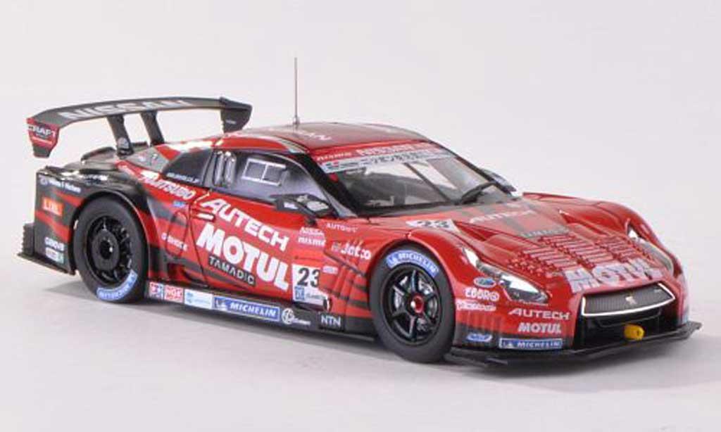Nissan Skyline R35 1/43 Ebbro GT-R No.23 Motal Autech Super GT500 2013 M.Yanagida/R.Quintarelli miniature