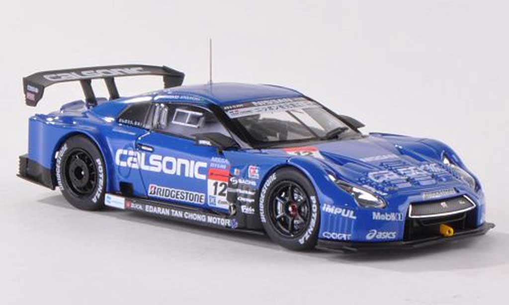 Nissan Skyline R35 1/43 Ebbro GT-R No.12 Calsonic Impul Super GT500 2013 T.Matsuda/J.P.Oliveira diecast model cars