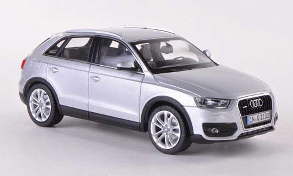 audi q3 miniature grise 2011 schuco 1 43 voiture. Black Bedroom Furniture Sets. Home Design Ideas