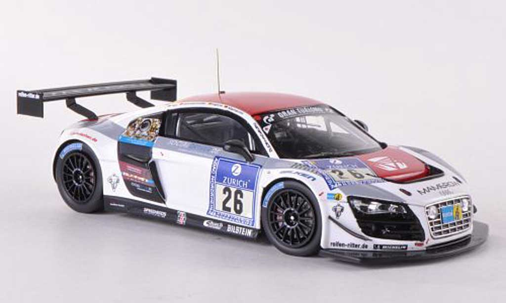 Audi R8 LMS 1/43 Spark Ultra No.26 Mamerow Racing 24h ADAC Nurburgring 2012 modellino in miniatura