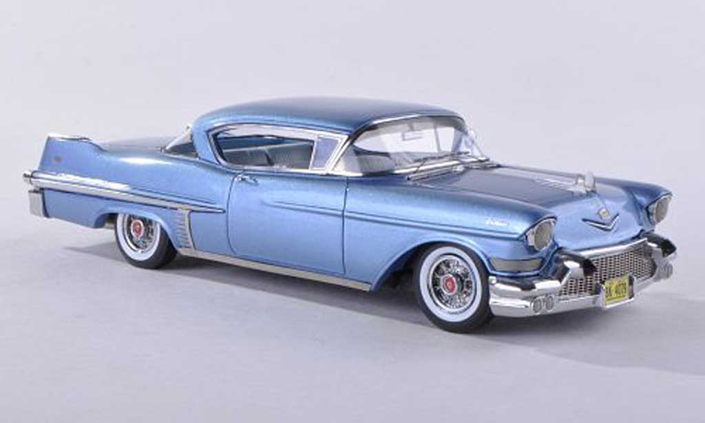 cadillac series 62 1957 miniature hardtop coupe bleu neo 1 43 voiture. Black Bedroom Furniture Sets. Home Design Ideas