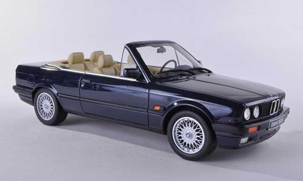 Bmw 325 E30 1/18 Ottomobile i  cabriolet noire-bleu miniature