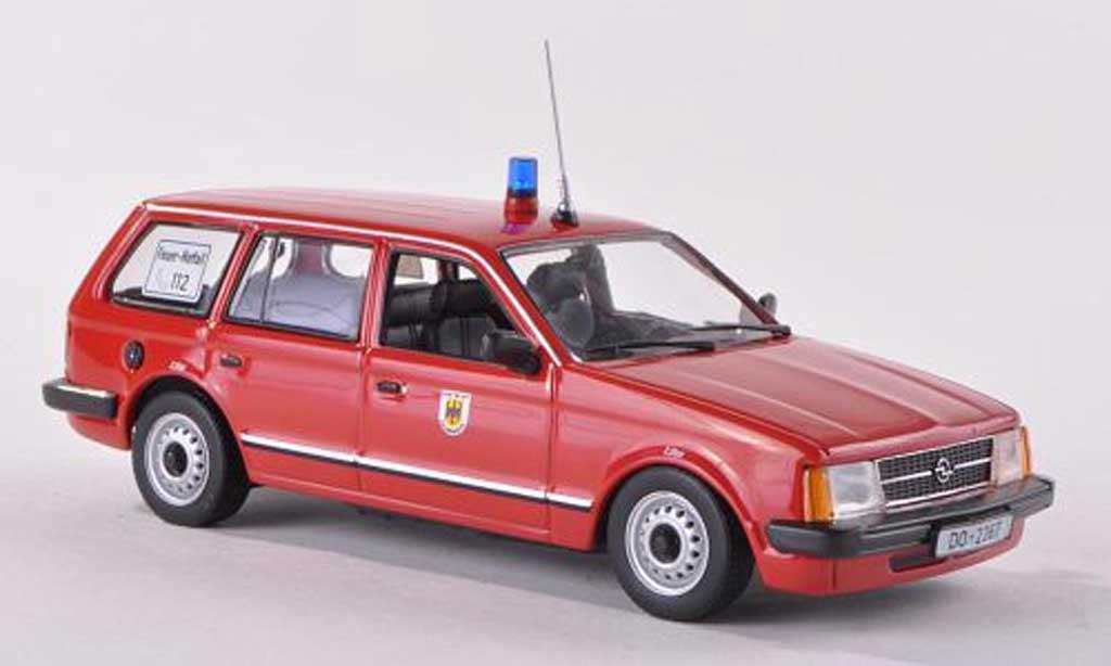 Opel Kadett D 1/43 Minichamps Caravan pompiers Dortmund  1979 diecast