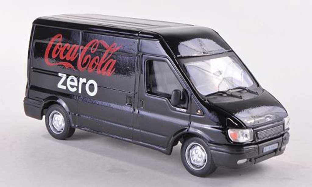 Ford Transit 1/43 Motor City Classics Kasten Coca-Cola Zero noire miniature