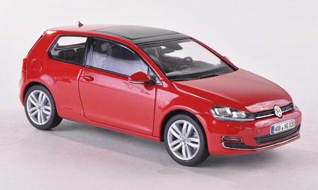 volkswagen golf vii miniature rouge 3 turer 2013 herpa 1 43 voiture. Black Bedroom Furniture Sets. Home Design Ideas