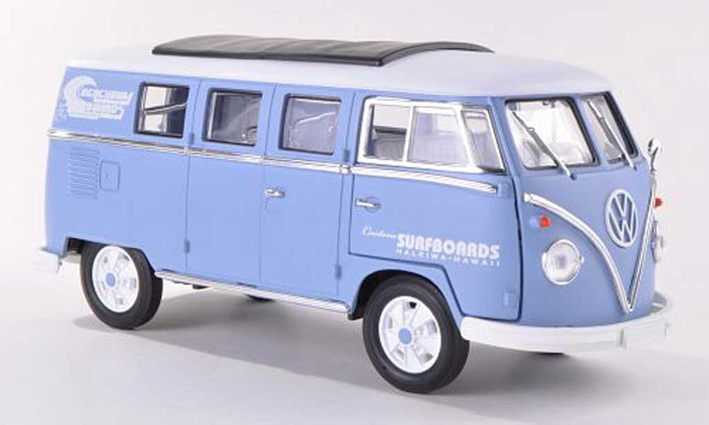 volkswagen t1 miniature t1 kombi custom surfboards hawaii 1962 greenlight 1 18 voiture. Black Bedroom Furniture Sets. Home Design Ideas