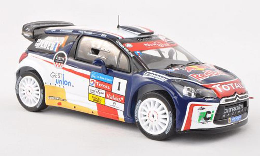 DS Automobiles DS3 WRC 2013 1/43 IXO No.1 Rallye Du Chablais S.Loeb miniature