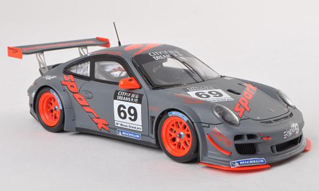 Porsche 997 GT3 1/43 Spark R 2012 No.69 GT Cup Macau R.Dumas miniature