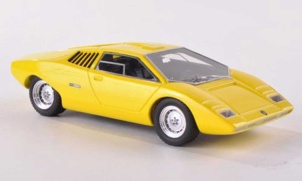 Lamborghini Countach LP 500 1/43 Look Smart Predotipo yellow 1971 diecast model cars