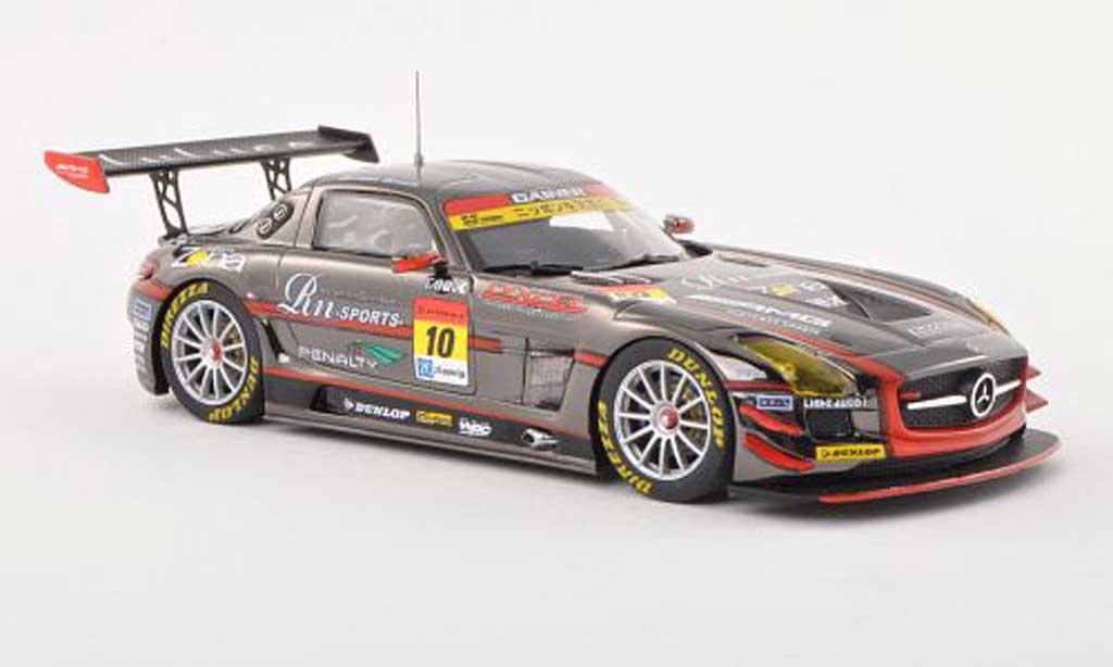 Mercedes SLS 1/43 Ebbro AMG No.10 Rn-Sports Dixcel Super GT300 2013 T.Tanaka/M.Ueda miniature