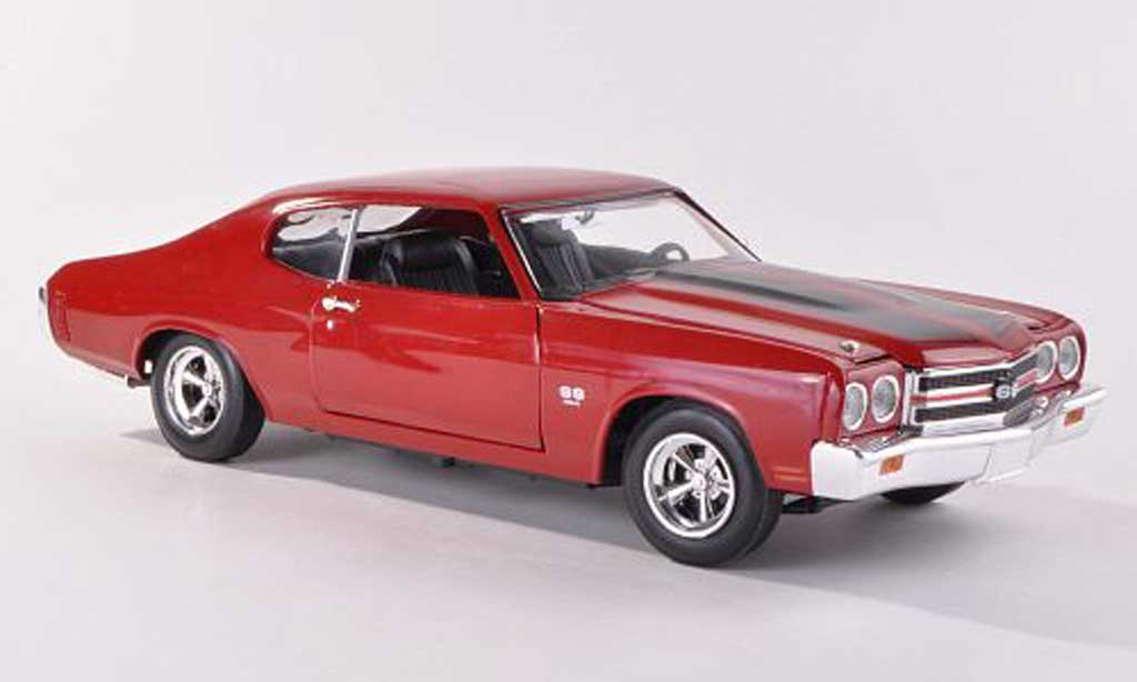Chevrolet SS 1970 1/18 Johnny Lightning rouge/noire Fast & Furios 4 miniature