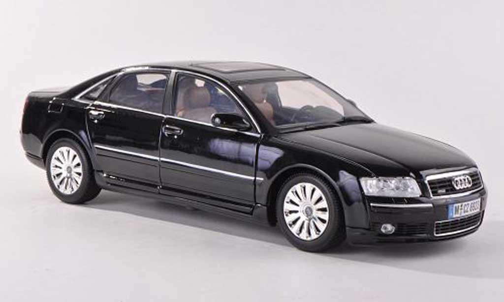 audi a8 schwarz motormax modellauto 1 18 kaufen verkauf modellauto online. Black Bedroom Furniture Sets. Home Design Ideas