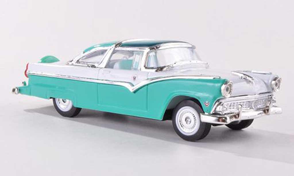 Ford Crown 1/43 Yat Ming Victoria grun/blanche 1955 miniature