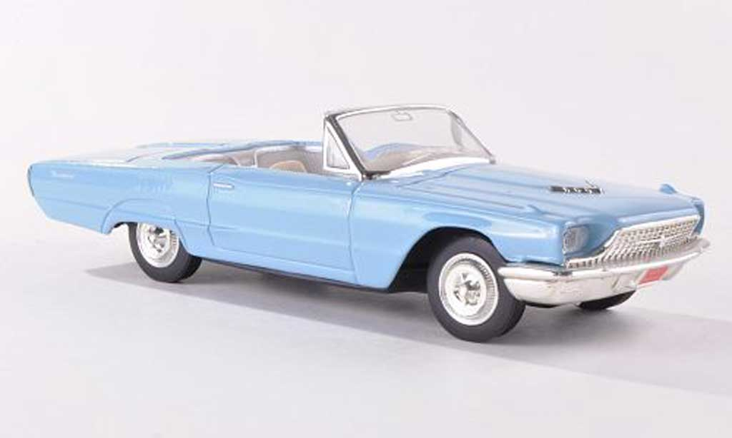 Ford Thunderbird 1966 1/43 Yat Ming bleue miniature
