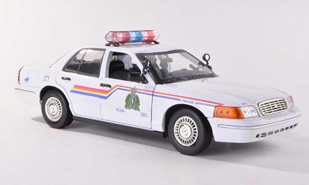Ford Crown 1/18 Motormax Royal Canadian Mounted Police Polizei Kanada miniature