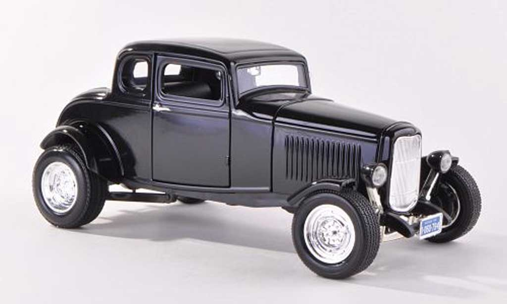 Ford 1932 1/18 Motormax Five Window Coupe noire miniature