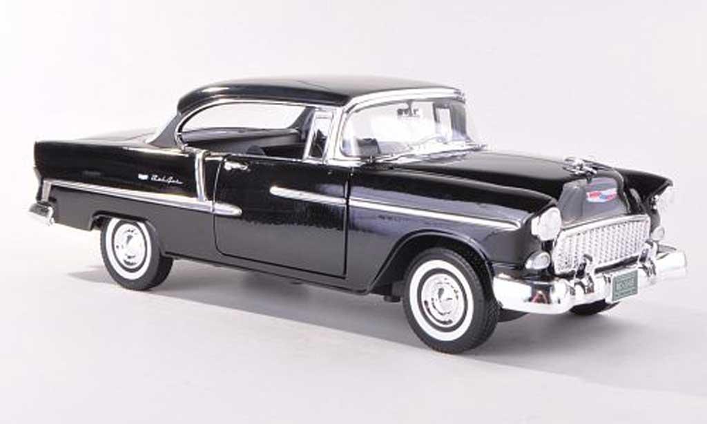 Chevrolet Bel Air 1955 1/18 Motormax Hardtop noire miniature