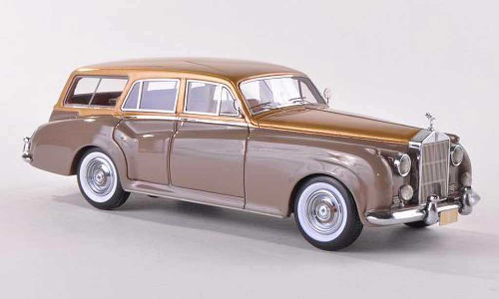 Rolls Royce Silver Cloud 1/43 Matrix Harold Radford SC biens dore/clair-brun LHD 1959 miniature