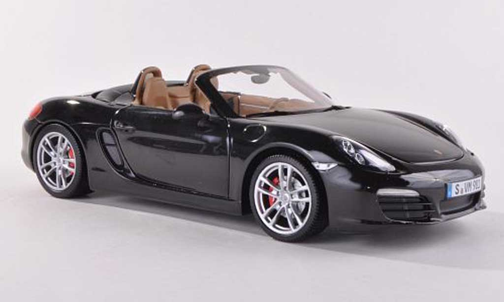Porsche Boxster 1/18 Minichamps S (981) black 2012 diecast model cars