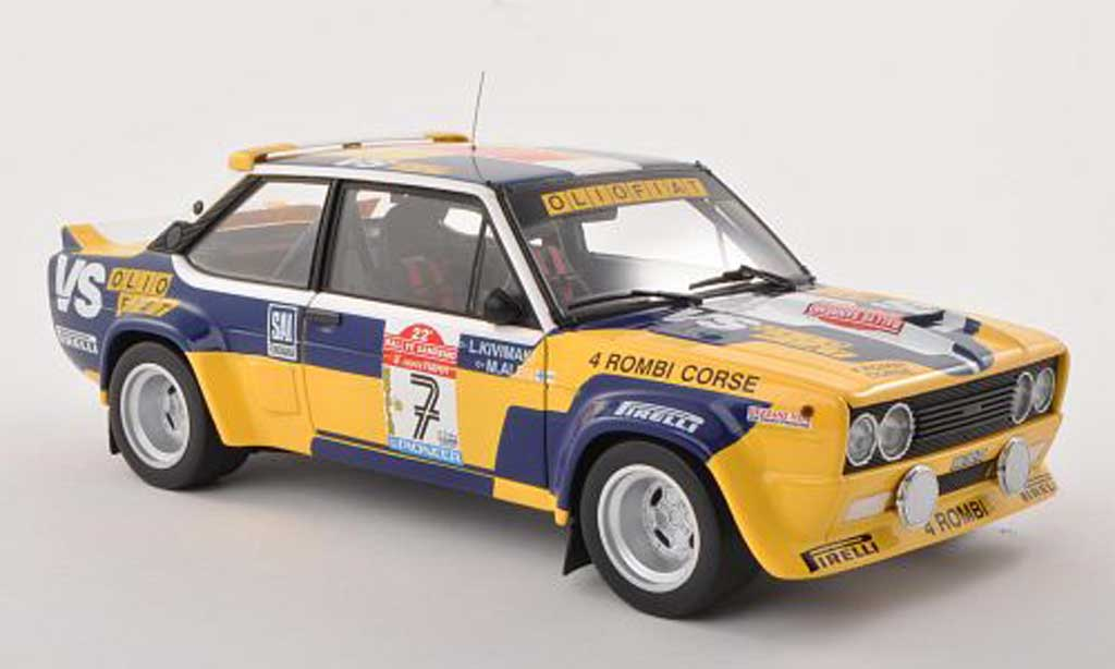 Fiat 131 Abarth 1/18 Kyosho No.7 4 Rombi Corse - VS Olio Rally Sanremo  1980 M.Alen/I.Kivimaki miniature