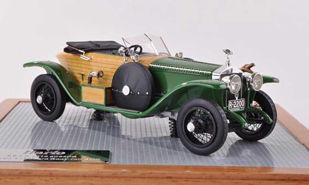Rolls Royce Schapiro 1/43 IILario Schebera Boat-Tail Skiff vert/optique de bois 1914 miniature