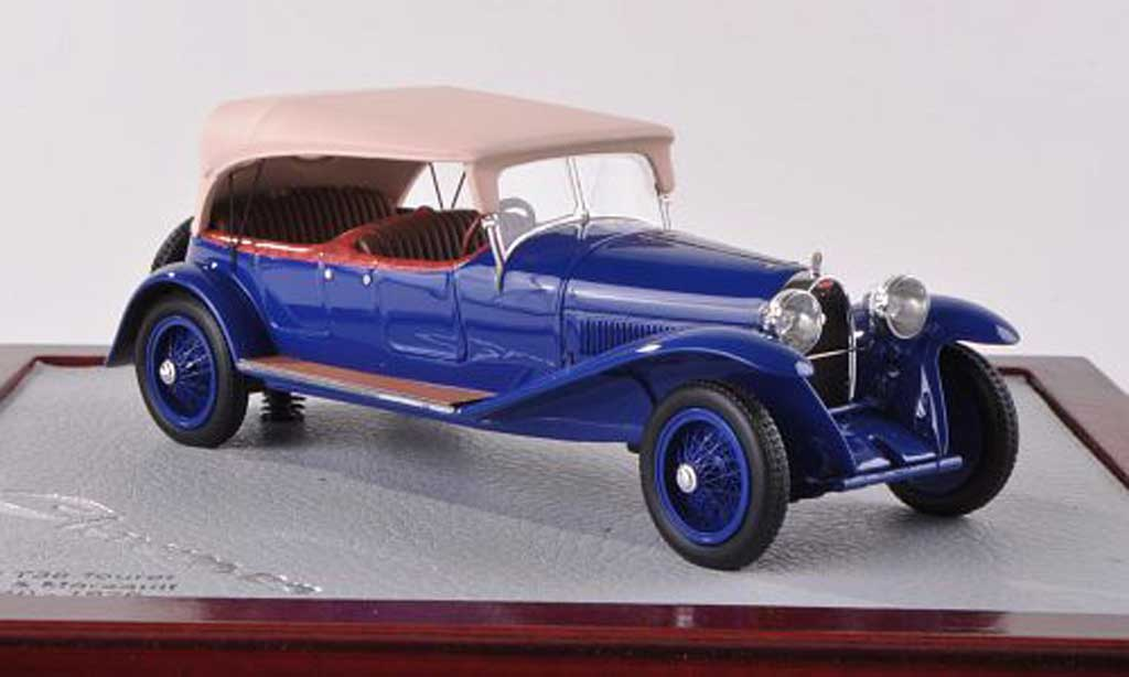 Bugatti 38 1/18 Chromes Tourer Lavocat & Marsault bleu/beige ferme 1926 miniature