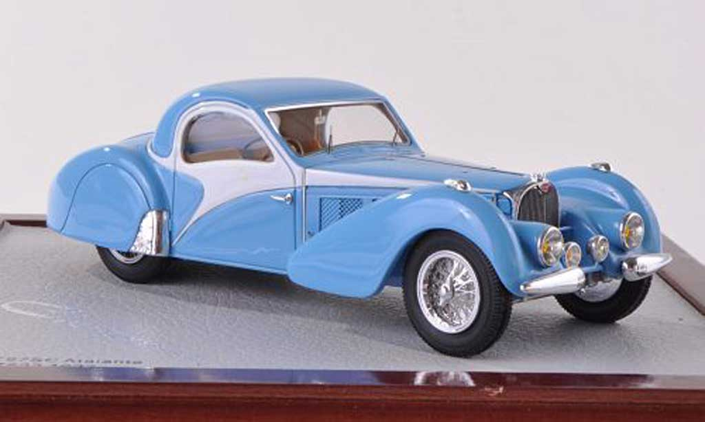 Bugatti 57 SC 1/18 Chromes Atalante bleu/blanche 1937 miniature