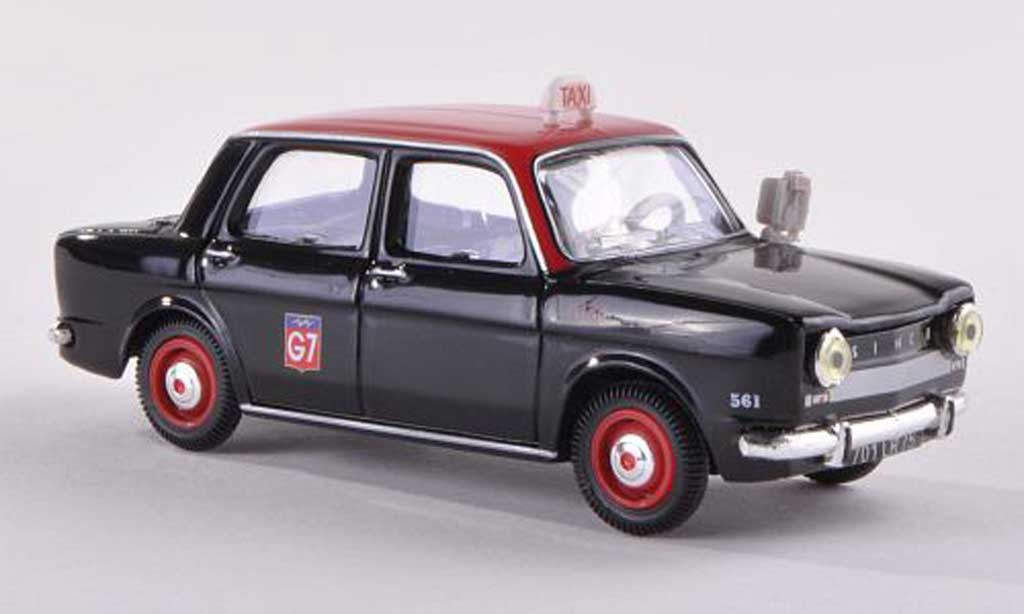 Simca 1000 1/43 Norev Taxi G7 black/red  1962