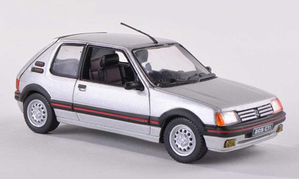 peugeot 205 gti miniature 1 6 gris norev 1 43 voiture. Black Bedroom Furniture Sets. Home Design Ideas