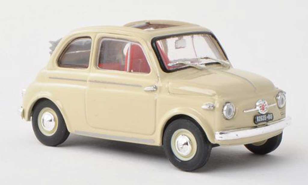 Fiat 500 1/43 Brumm Nuova beige offenes toit rabattable  1957 diecast