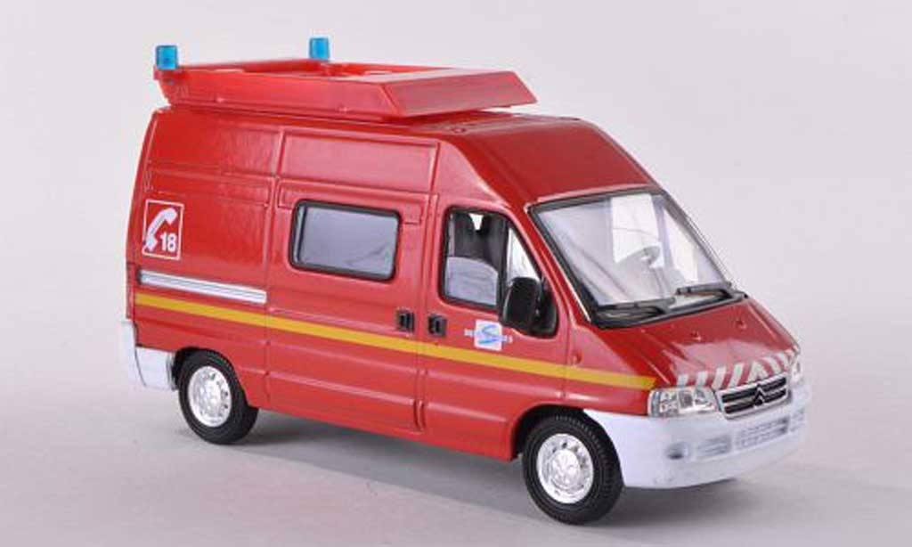citroen jumper miniature balisage pompiers f solido 1 43 voiture. Black Bedroom Furniture Sets. Home Design Ideas