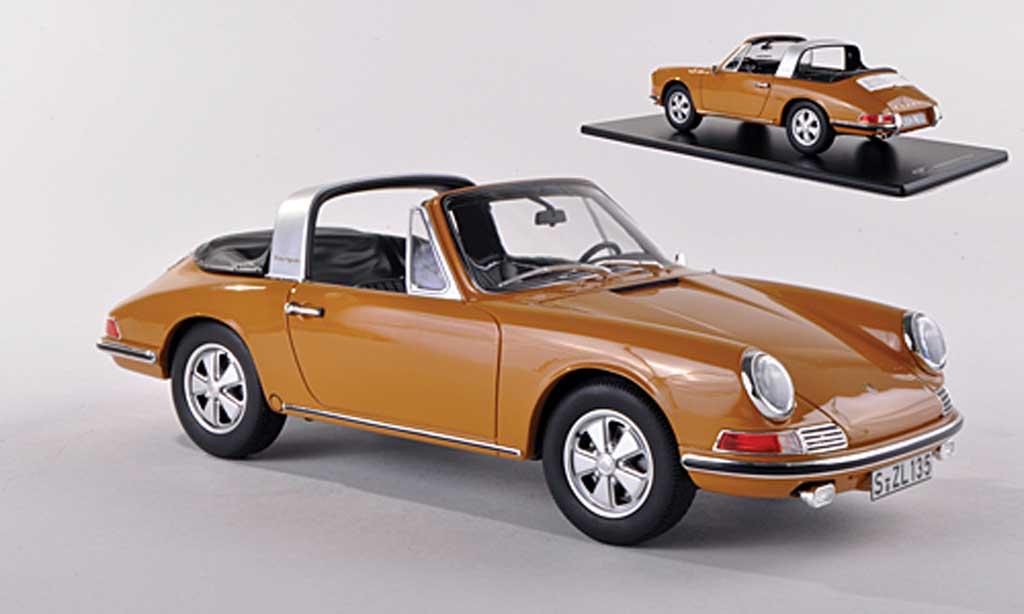 Porsche 901 1967 1/43 GT Spirit S Targa noire-jaune miniature
