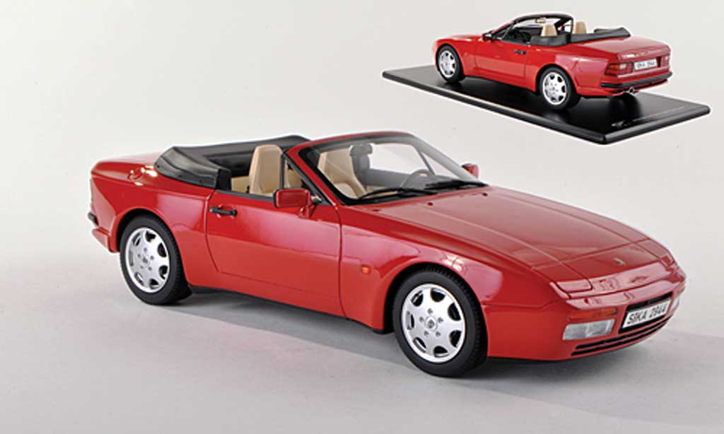 Porsche 944 1989 1/43 GT Spirit S2 cabriolet red diecast model cars