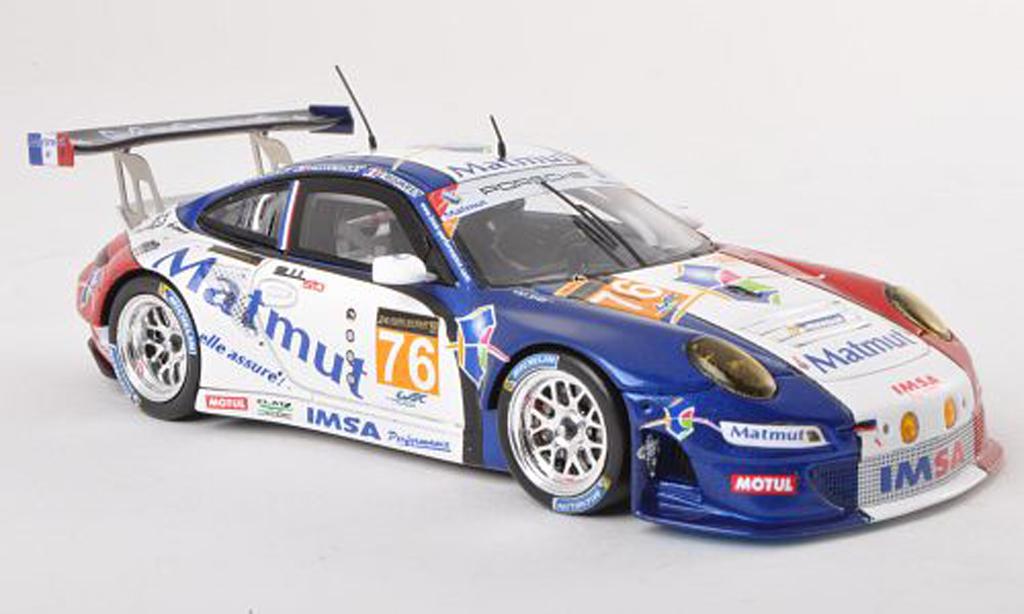 Porsche 997 GT3 RSR 1/43 Spark 2013 No.76 Imsa Performance Matmut 24h Le Mans C.Bourret/R.Narac/J.K.Vernay